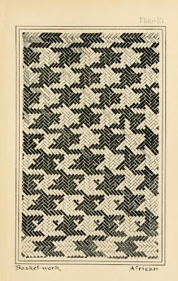 8f3c014456 ... there can be little doubt that this indeed originated as an artefact.  As ever, does anyone know more on this, and indeed, of houndstooth in  basketwork?